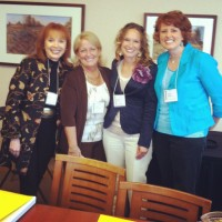 Speak up 2012, Carol Kent, Donna Fagerstrom, me, Cindy Bultema