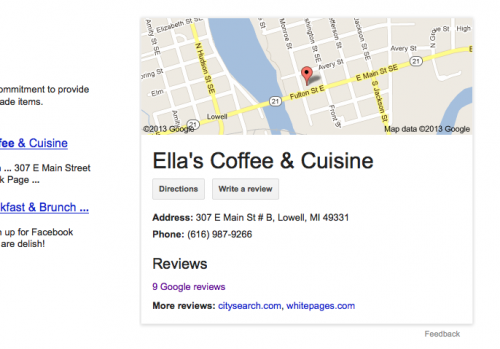 Write a review on Google.