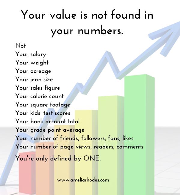 not your numbers