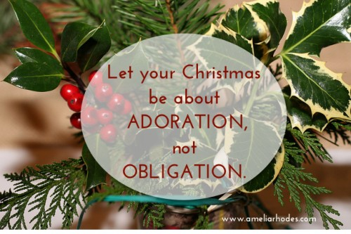 Adoration over Obligation