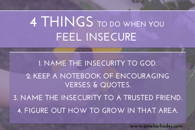 insecurity 4 things