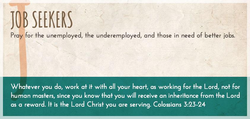 Pray A to Z: Job Seekers