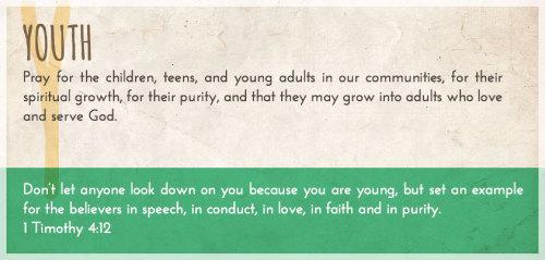 Pray A to Z: Youth Bonus Post