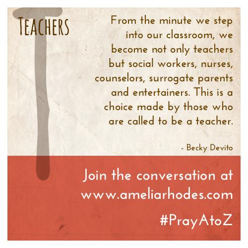 Pray A to Z: Teachers