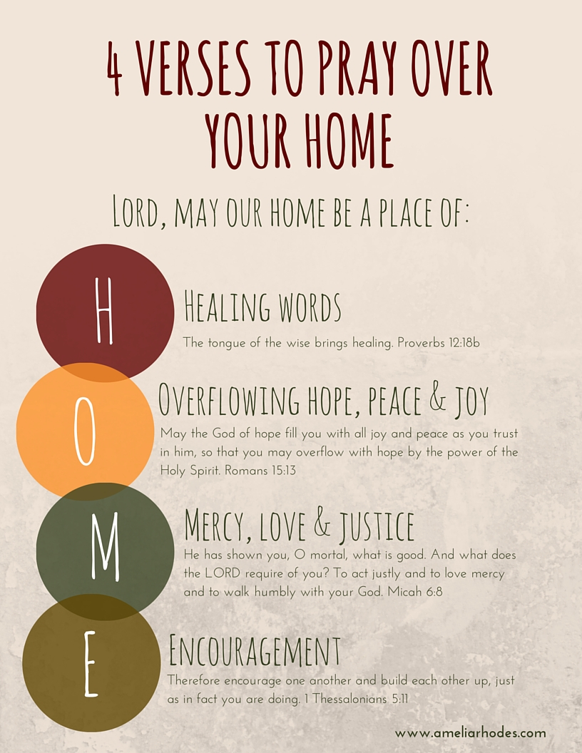 4 verses to pray over your HOME