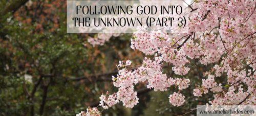 Following God Into the Unknown (Part 3)