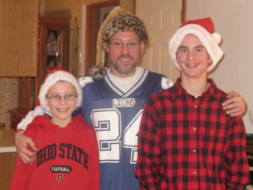 Roseanne's brother Scott with her boys Brody and Brock.
