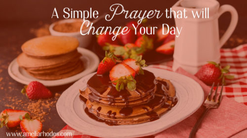 A prayer to change your day