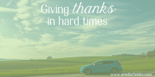 Giving Thanks in Hard Times {Giveaway!}